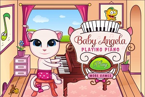 Baby Angela Playing Piano thumbnail