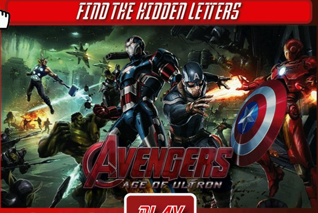 The Avengers Age of Ultron - Hidden Leters thumbnail