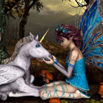 Thumbnail of Unicorn with Fairy Stars