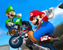 Thumbnail of Mario and Luigi Motorbike Puzzle