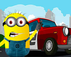 Minion Racing Car Puzzle thumbnail