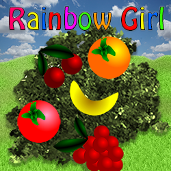 Rainbow Girl Collecting Fruits thumbnail