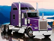 Thumbnail for Violet Kenworth Truck Jigsaw