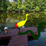 Thumbnail for Escape Yellow Bubulcus from Lake Side