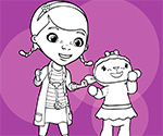 Coloring Doc McStuffins and Lambie thumbnail