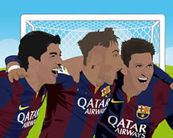 Suarez Neymar and Messi thumbnail