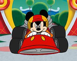 Thumbnail of Mickey Racing Car