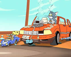Tom and Jerry Car Puzzle thumbnail