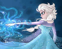 Thumbnail of Elsa Collect Snowflakes