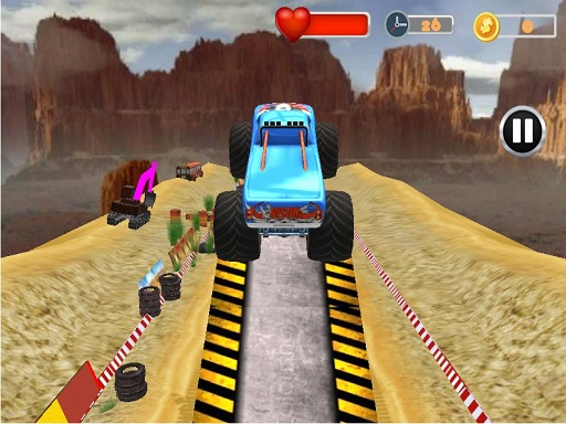 Monster Truck Tricky Stunt Race Game thumbnail