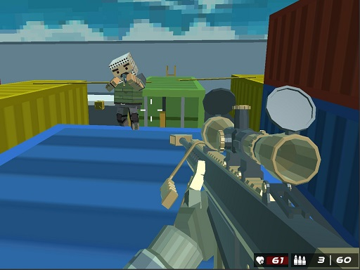 Shooting Blocky Combat Swat GunGame Survival thumbnail