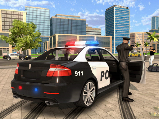 Cartoon Police Car Slide thumbnail
