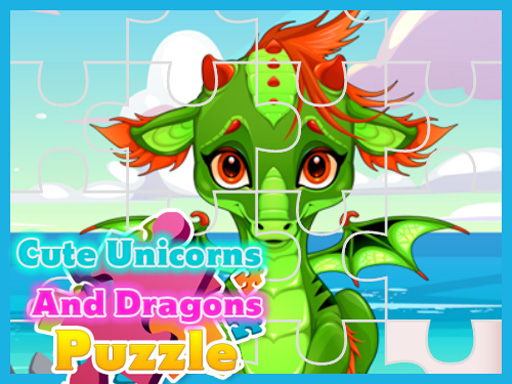 Cute Unicorns And Dragons Puzzle thumbnail