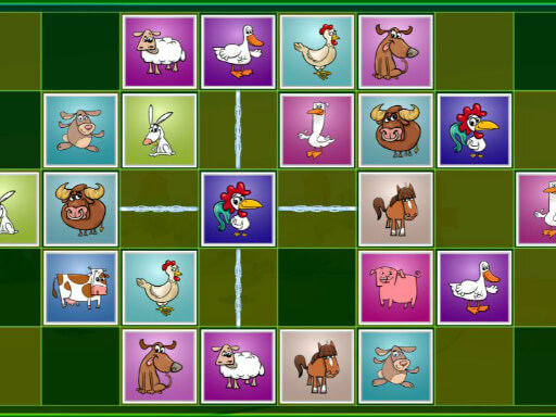 Farm Animals Matching Puzzles thumbnail