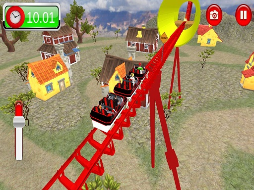 Roller Coaster Crazy Drive Game thumbnail