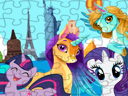 Unicorns Travel The World Puzzle thumbnail