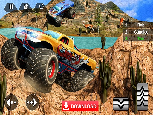 Mega Truck Race Monster Truck Racing Game thumbnail