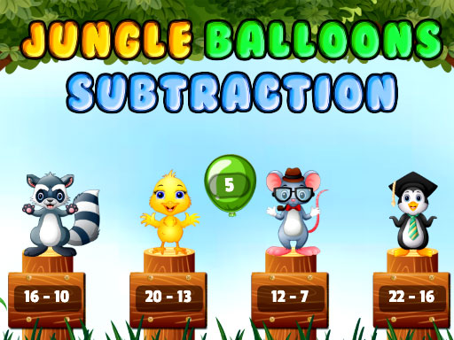 Jungle Balloons Subtraction thumbnail