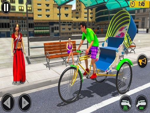 Bicycle Tuk Tuk Auto Rickshaw New Driving Games thumbnail