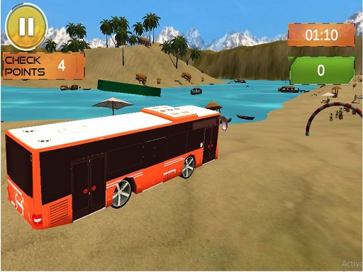 Beach Bus Driving : Water Surface Bus Game thumbnail
