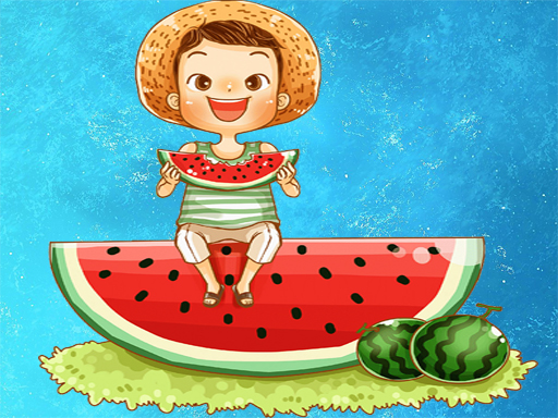 Watermelon and Drinks Puzzle thumbnail