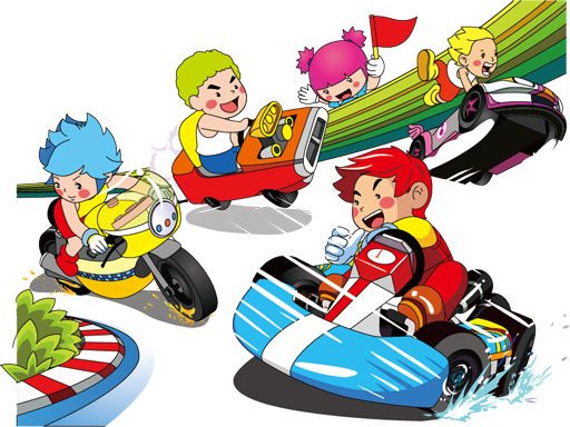 Cartoon Kart Puzzle thumbnail