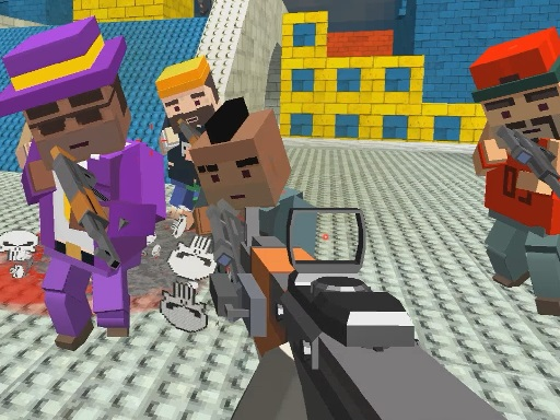 GunGame shooting warfare blocky gangster thumbnail