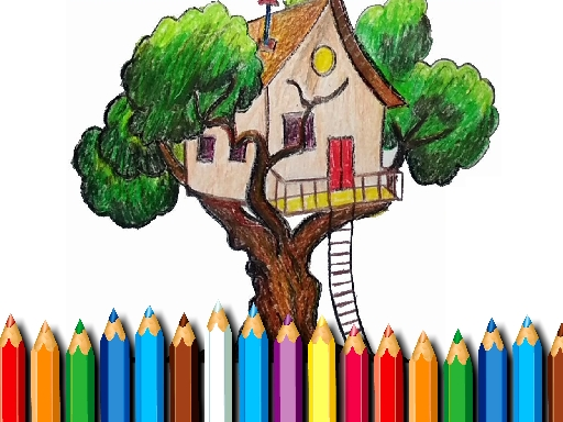 Tree House Coloring Book thumbnail