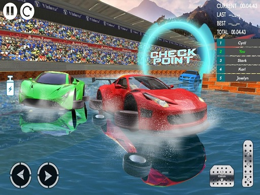 Water Car Stunt Racing 2019 3D Cars Stunt Games  thumbnail