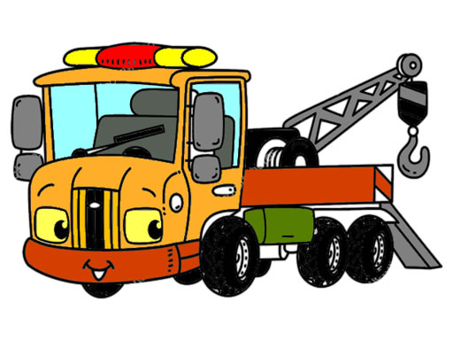 Tow Trucks Coloring thumbnail