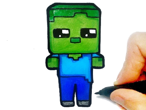 Easy Kids Coloring Mineblox thumbnail