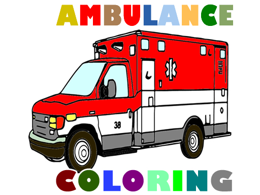 Ambulance Trucks Coloring Pages thumbnail