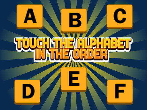 Touch The Alphabet In The Oder thumbnail