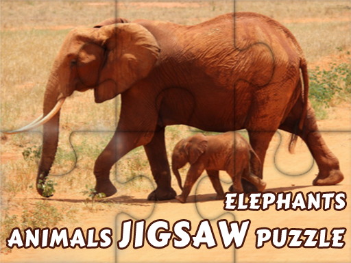 Animals Jigsaw Puzzle Elephants thumbnail