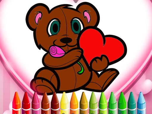 Animals Valentine Coloring thumbnail