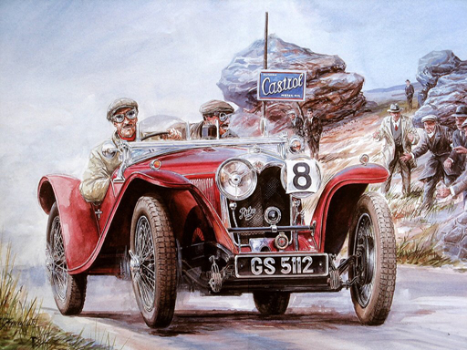 Thumbnail of Painting Vintage Cars Jigsaw Puzzle 2