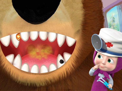 Thumbnail of Girl And The Bear Dentist Game