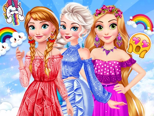 Princesses Rainbow Dressup thumbnail