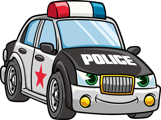 Cartoon Police Cars Puzzle thumbnail