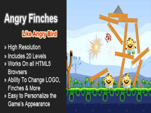 Angry Finches Funny HTML5 Game thumbnail