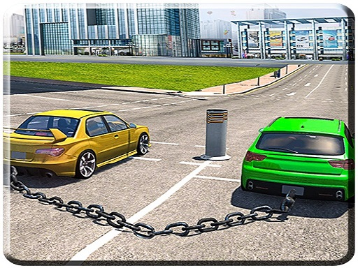 Thumbnail of Chained Cars Impossible Tracks Game