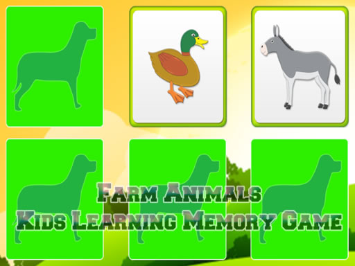 Thumbnail of Kids Learning Farm Animals Memory