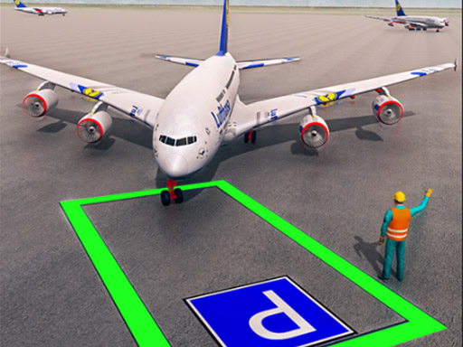 Air Plane Parking 3d thumbnail