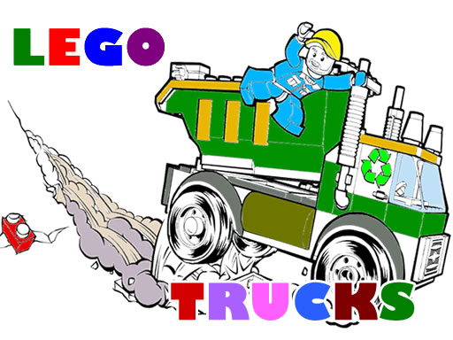 Lego Trucks Coloring thumbnail