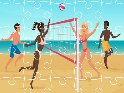 Beach Volley Ball Jigsaw thumbnail