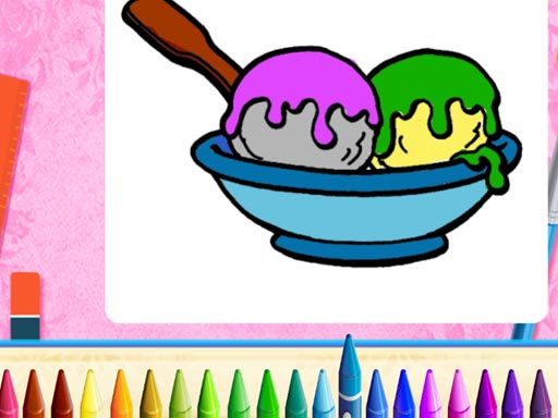 Thumbnail of Online Ice Cream Coloring