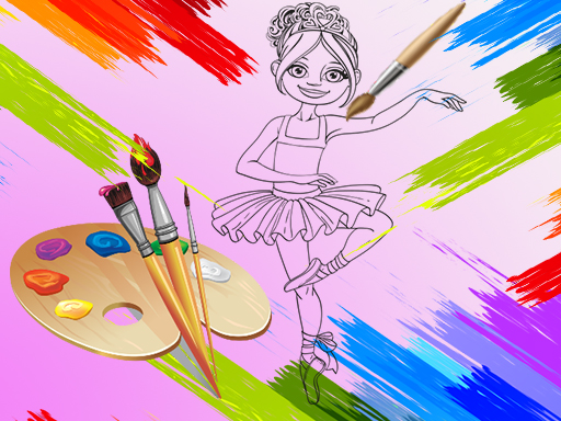 Little Ballerinas Coloring thumbnail