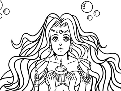 Kawaii Mermaids Coloring Book Game thumbnail