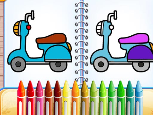Cute Bike Coloring Book thumbnail