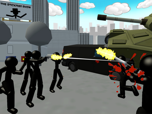 Thumbnail for Stickman City Shooting 3D